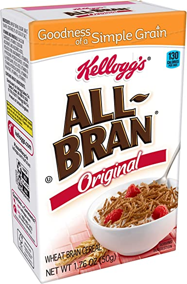 All-Bran Cereal, 1.76-Ounce Single Serve Packs (Pack of 70 ...