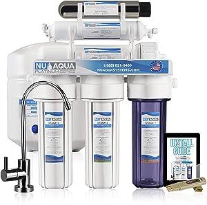 NU Aqua Platinum Series 6 Stage UV Ultraviolet 100GPD RO System