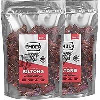 Ember Biltong 1KG Großbeutel - Beef Jerky Chili - Proteinreicher Snack - Chilli (2x500g)