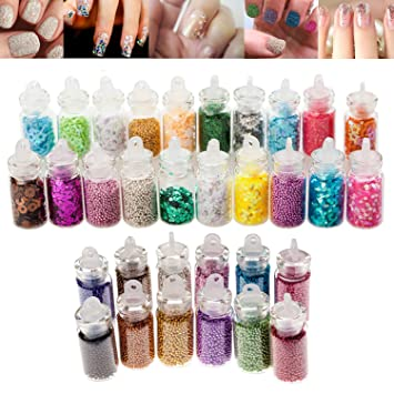 Amazon High Quality Professional Nail Art Set Of Glitters