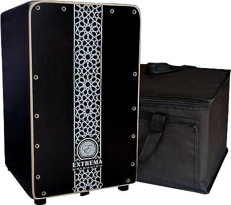 Cajón Flamenco Negro Extrema Percusión con Funda de Transporte: Amazon.es: Instrumentos musicales