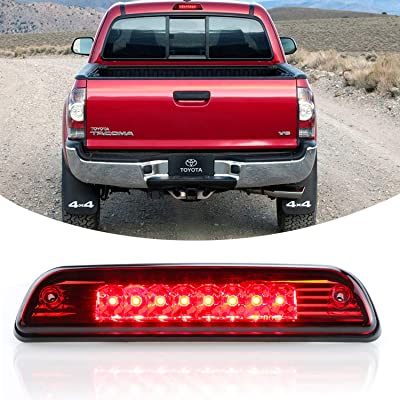 Center Hight Mount Stop Light Third 3rd Brake/Reverse LED Lights Lamp Replacement For 1995-2016 Toyota Tacoma Cargo Lights (Red): Automotive