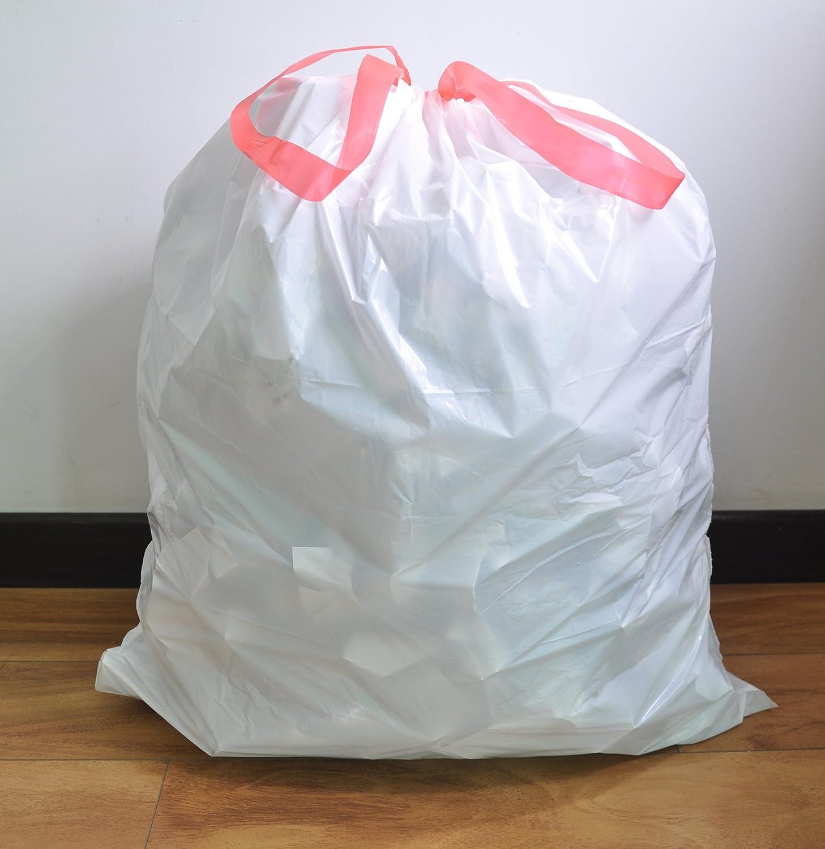 Amazon.com: IBBM 4 Gallons Drawstring Strong Trash Bags - Tall ...