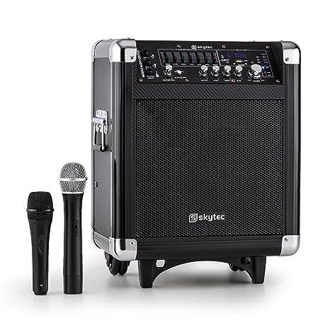 Equipo PA activo Skytec ST-065 - Bluetooth (sistema sonido inalámbrico USB, SD, reproductor MP3, VHF, ...