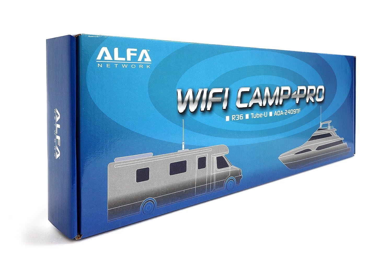 1 X R36 and RVs. Boat Alfa Network WiFi Camp-Pro G 1 X Tube U G /& 1 X AOA-2409 Outodoor 9 dbi Marine antenna Universal WiFi // Internet Range Extender Kit for Home