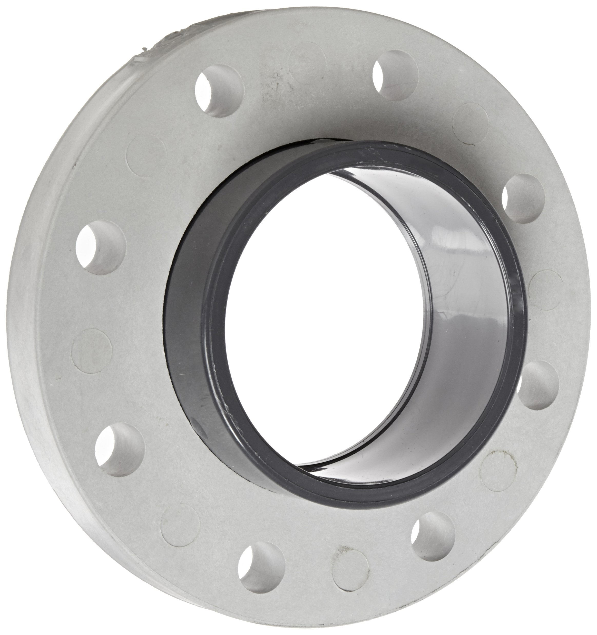 Spears 854-040 Glass-Filled PVC Pipe Fitting, Van Stone Flange, Class 150, Schedule 80, 4'' Socket
