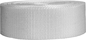 Strapworks Heavyweight Polypropylene Webbing - Heavy Duty Poly Strapping for Outdoor DIY Gear Repair, 2 Inch x 50 Yards - White