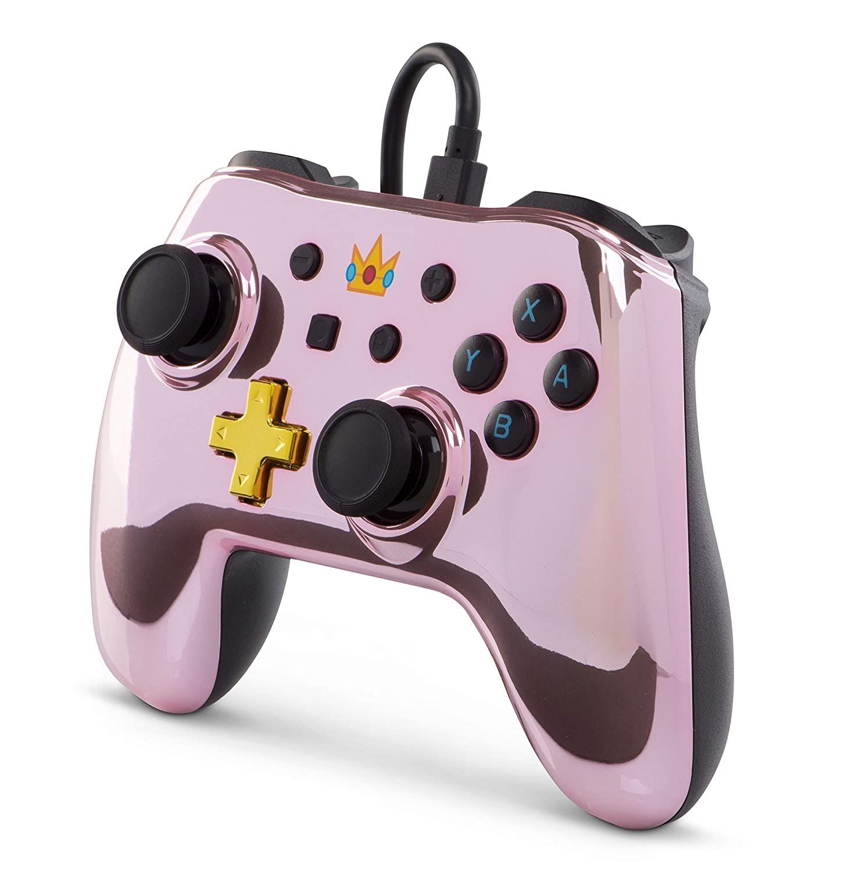 PowerA - Mando Con Cable Chrome Princess Peach (Nintendo Switch): Amazon.es: Videojuegos