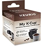 Keurig Universal Reusable Filter, Single Stream Design, Compatible with All 2.0 K-Cup Pod Coffee Makers, 1 Count, Black