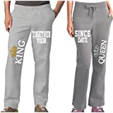 King Queen Cool Couples Pajama Pants & Bottoms - Matching Couple Outfits for Men & Women