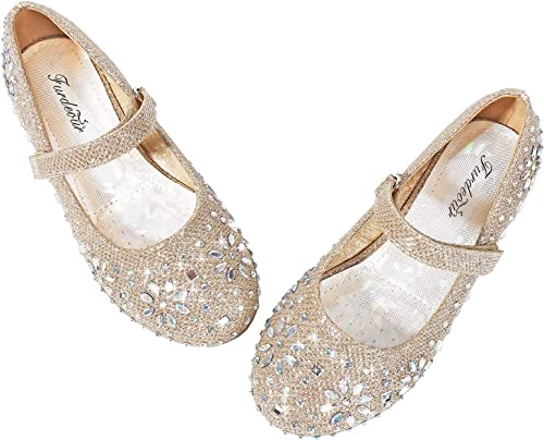Infant Girl Kid Flat Shoes Dress Formal Casual Glittery Party Soft Walking Shoes