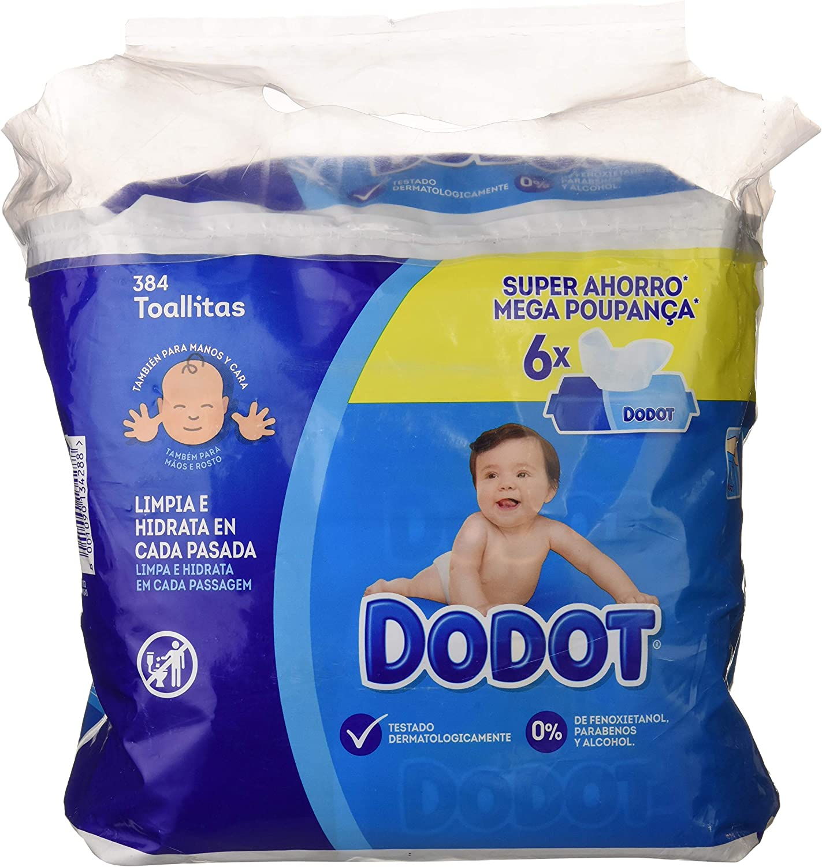 Dodot Toallitas para Bebé, 6 Paquetes de 64 Unidades, 384 ...