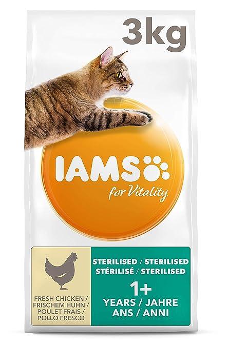 IAMS for Vitality Light in Fat/Esterilizado Alimento para gatos con pollo fresco [3 kg]