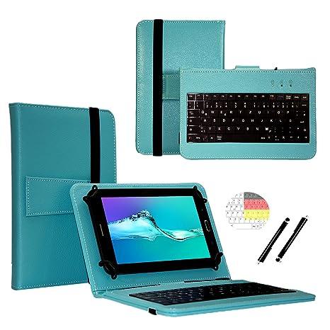 Deutsche Qwertz Tastatur für Lenovo Tab3 10 Plus TB3-X70F Tablet PC Etui Schutz Hülle mit Touch Pen - Tastatur 10.1 Zoll Türk