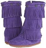 Minnetonka 3 Layer Fringe Boot,Purple,12 M US