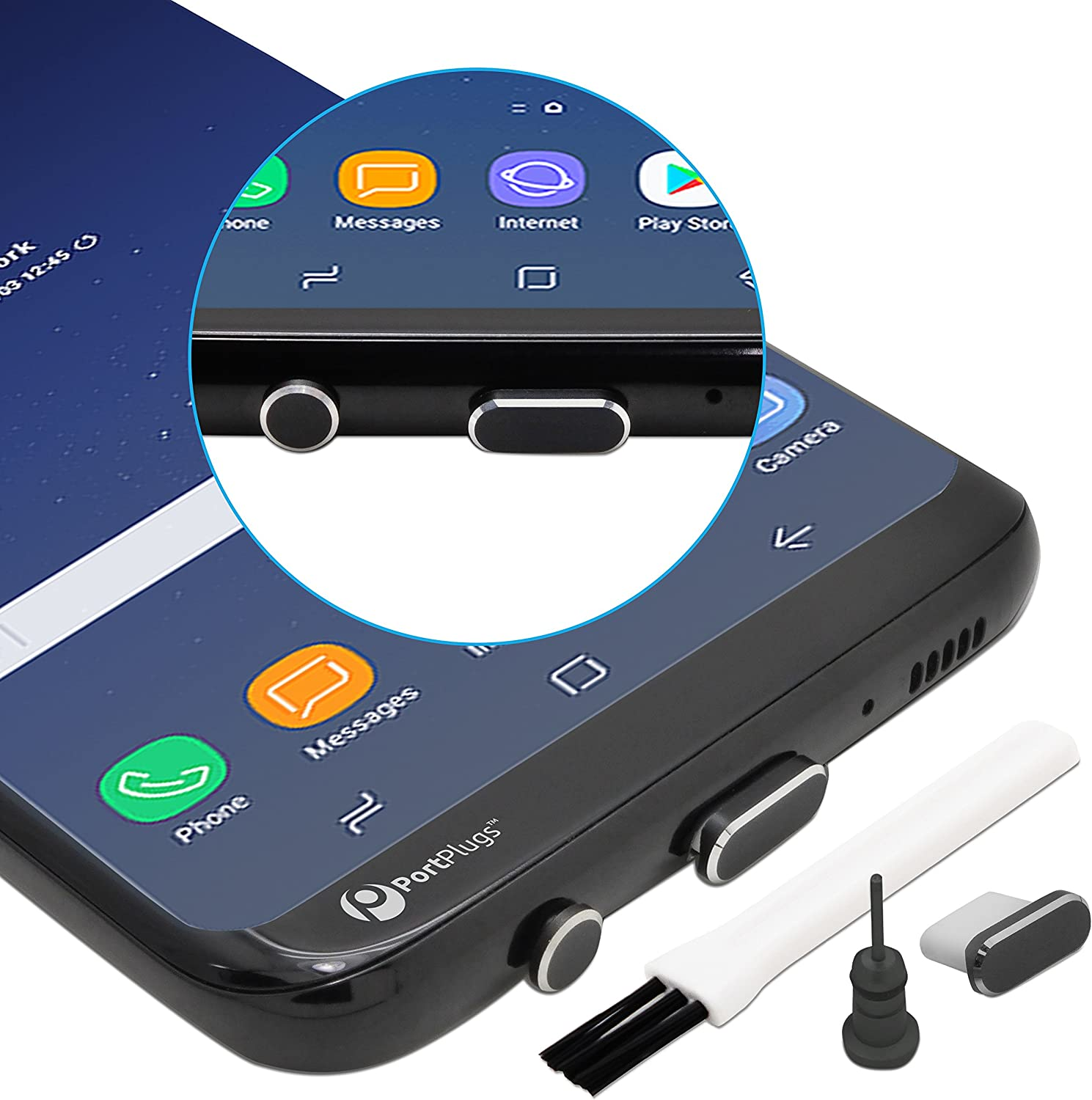 """CKANDAY 20 Pairs USB C Dust Plugs Set for Type C Charging Port and Earphone Jack Note Pixel 13/"""" and 15/"""" Mac Laptops One Plus,Latest 12/"""" Silicone Anti-Dust Pluggy Caps Compatible with Samsung S10"""