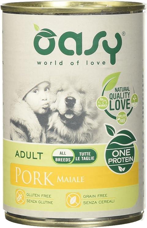 OASY Una Proteína De Perro Mojado 400 G De Carne De Cerdo Húmedo Para Perros