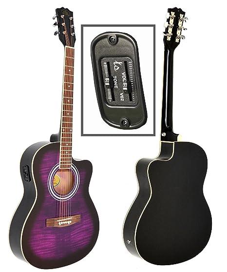 """ts-ideen – 4/4 tamaño completo acústica guitarra occidental en morado y"""""""