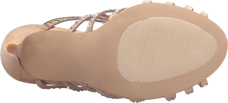 Madden Girl Womens Direct-R Heeled Sandal Nude Fabric 9.5 M US