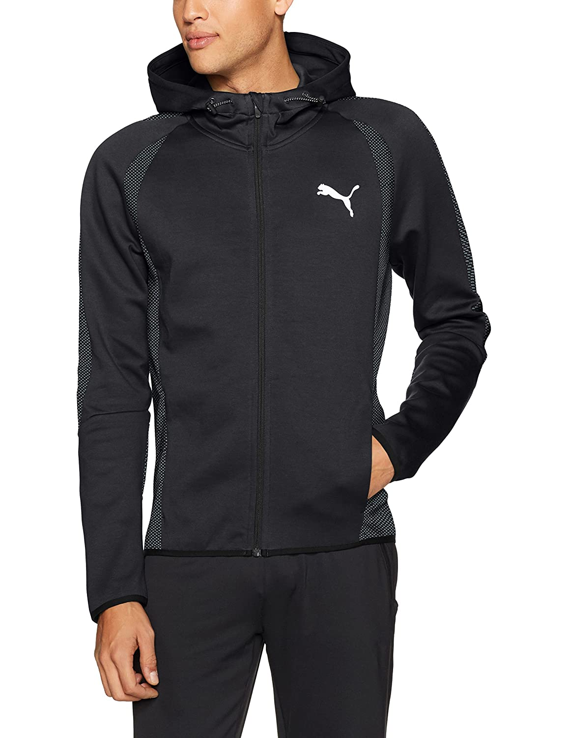 PUMA Mens Standard Evostripe Ultimate Athleisure Full Zip Training Hoodie