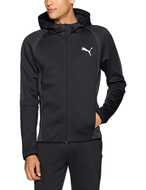 0128f732db5c Puma Men s Evostripe Ultimate Full Zip Hoodie  Amazon.in  Clothing ...
