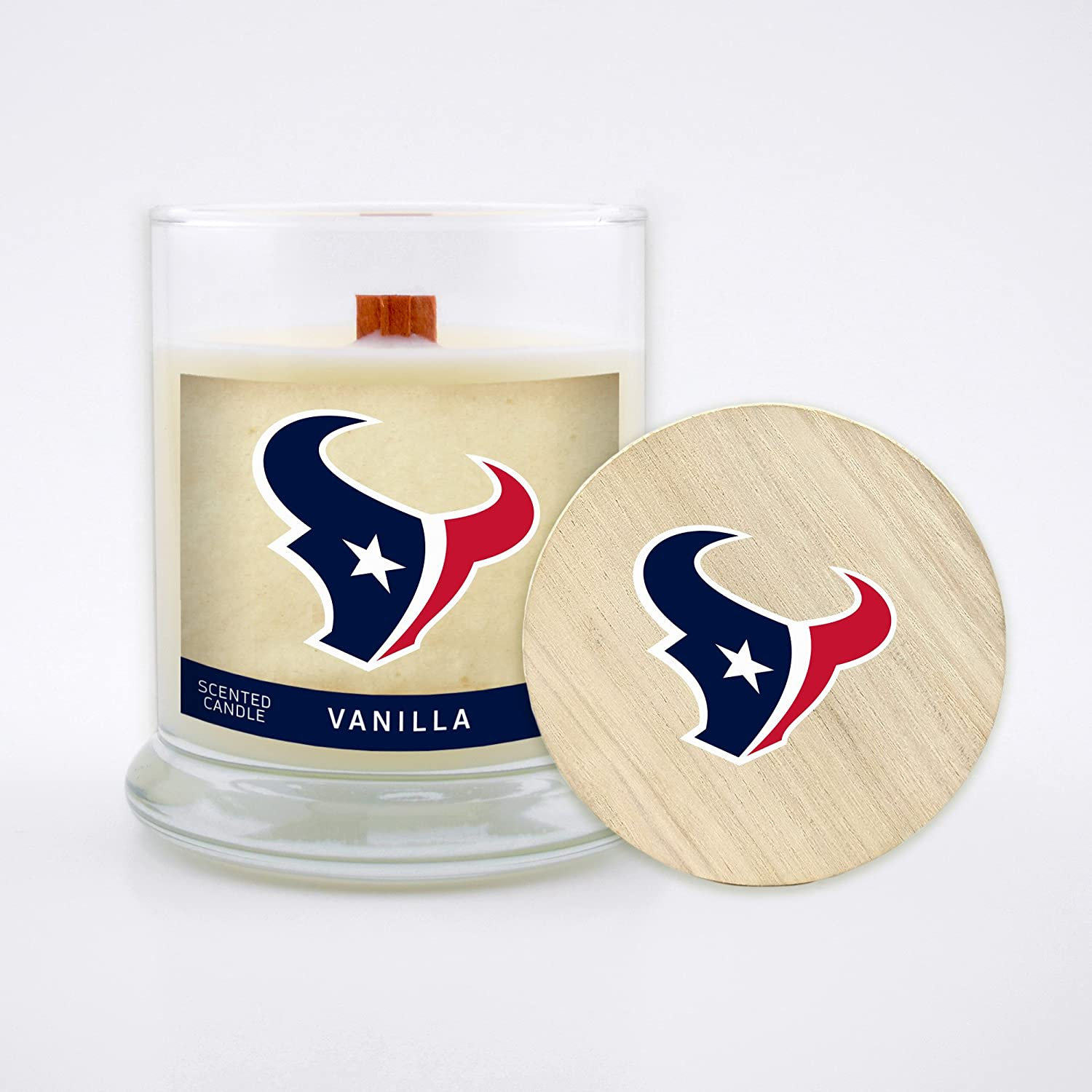 Worthy Promo NFL Unisex-Adult NFL 8 Oz Soy Wax Wood Wick Candle with Lid
