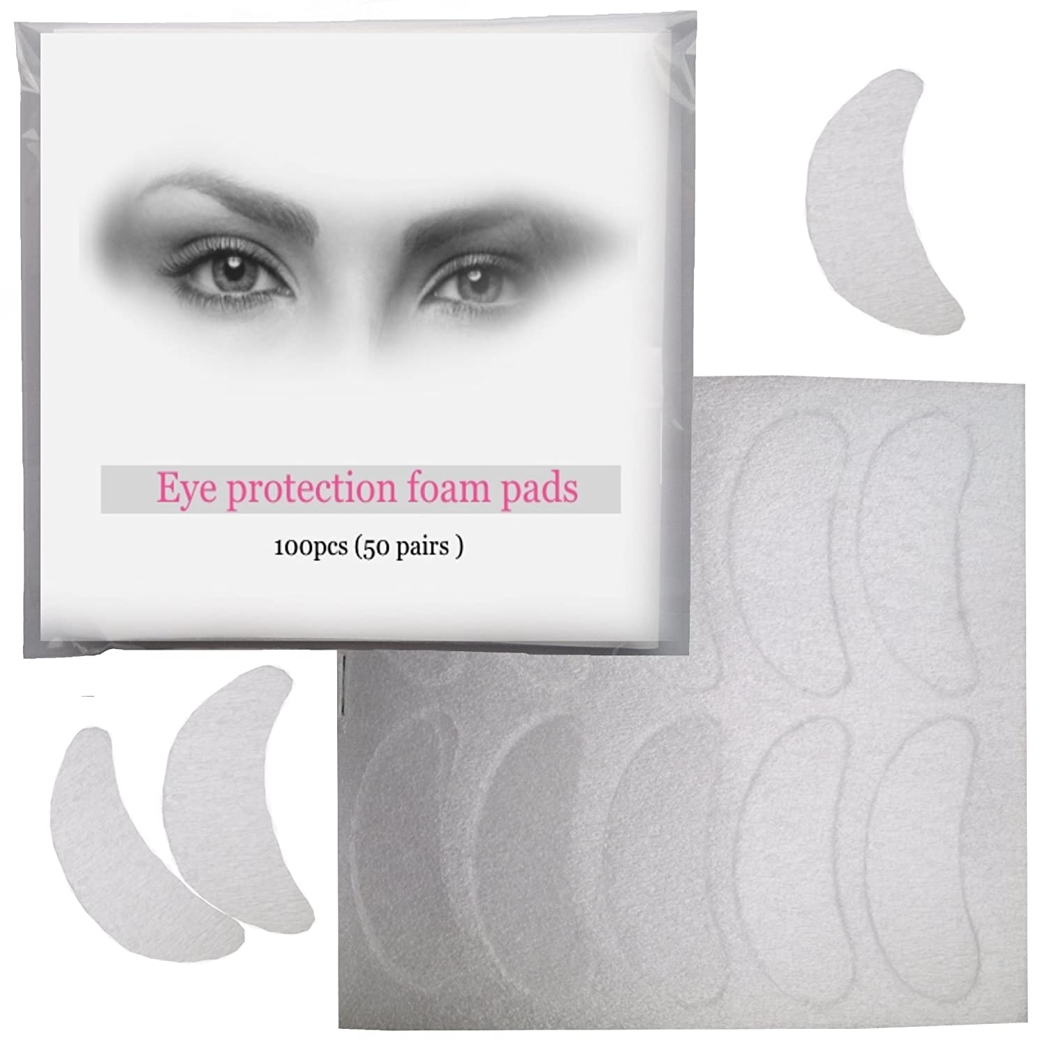 Professional Eye Protection Foam Pads For Eyelash Tinting With
