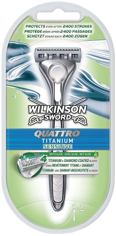 Wilkinson Sword Quattro Titanium Sensitive Razor 7005362Y
