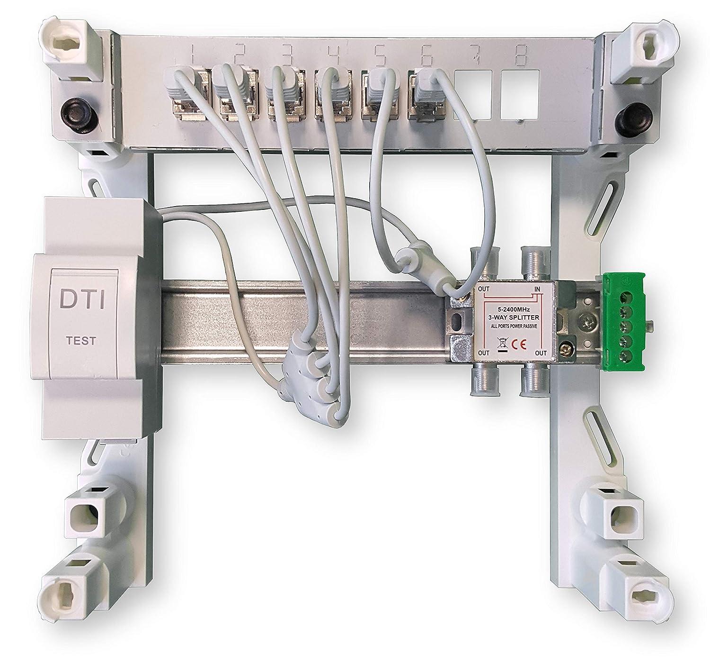 XHsystem Coffret de communication Modulaire 250 Grade 2 Avec Dti 4 RJ45