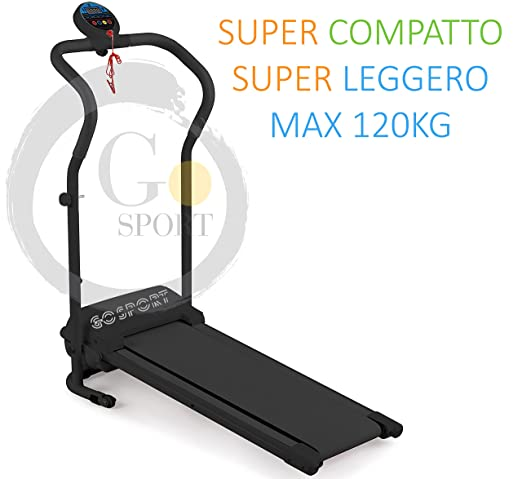 Cita de correr eléctrica, plegable, con pantalla LED, 500 W/2,5 HP ...