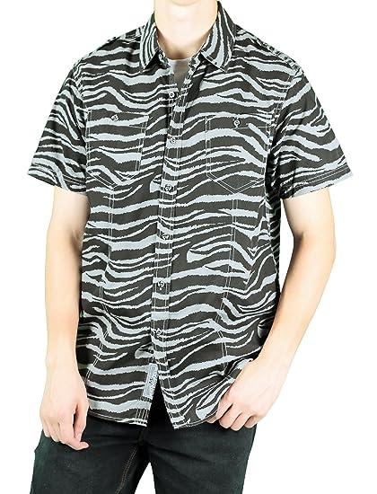 835452d75e MO7 Men s Camo Print Short-Sleeve Woven Shirt at Amazon Men s Clothing  store