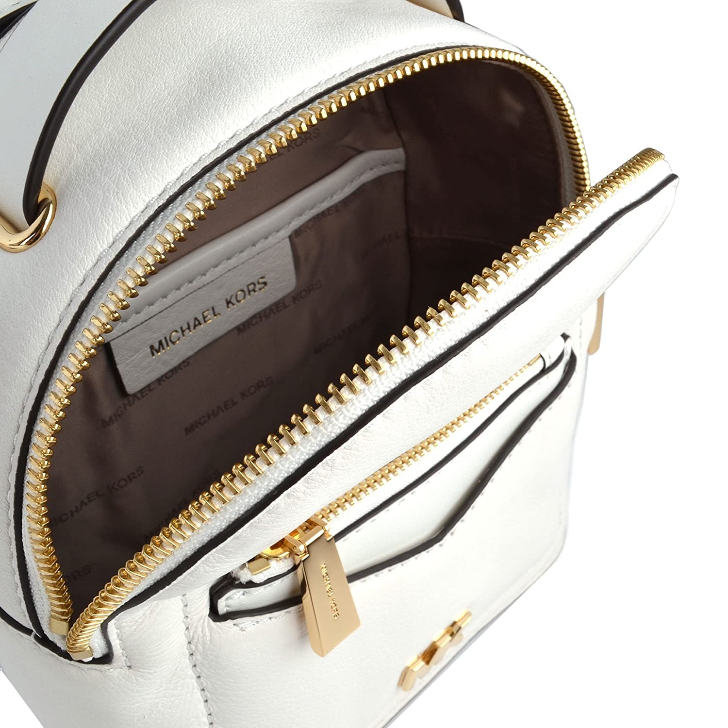 6c7894beb5d7 MICHAEL by Michael Kors Jessa Extra Small Optic White Convertible Backpack  one size Optic White: Amazon.co.uk: Shoes & Bags