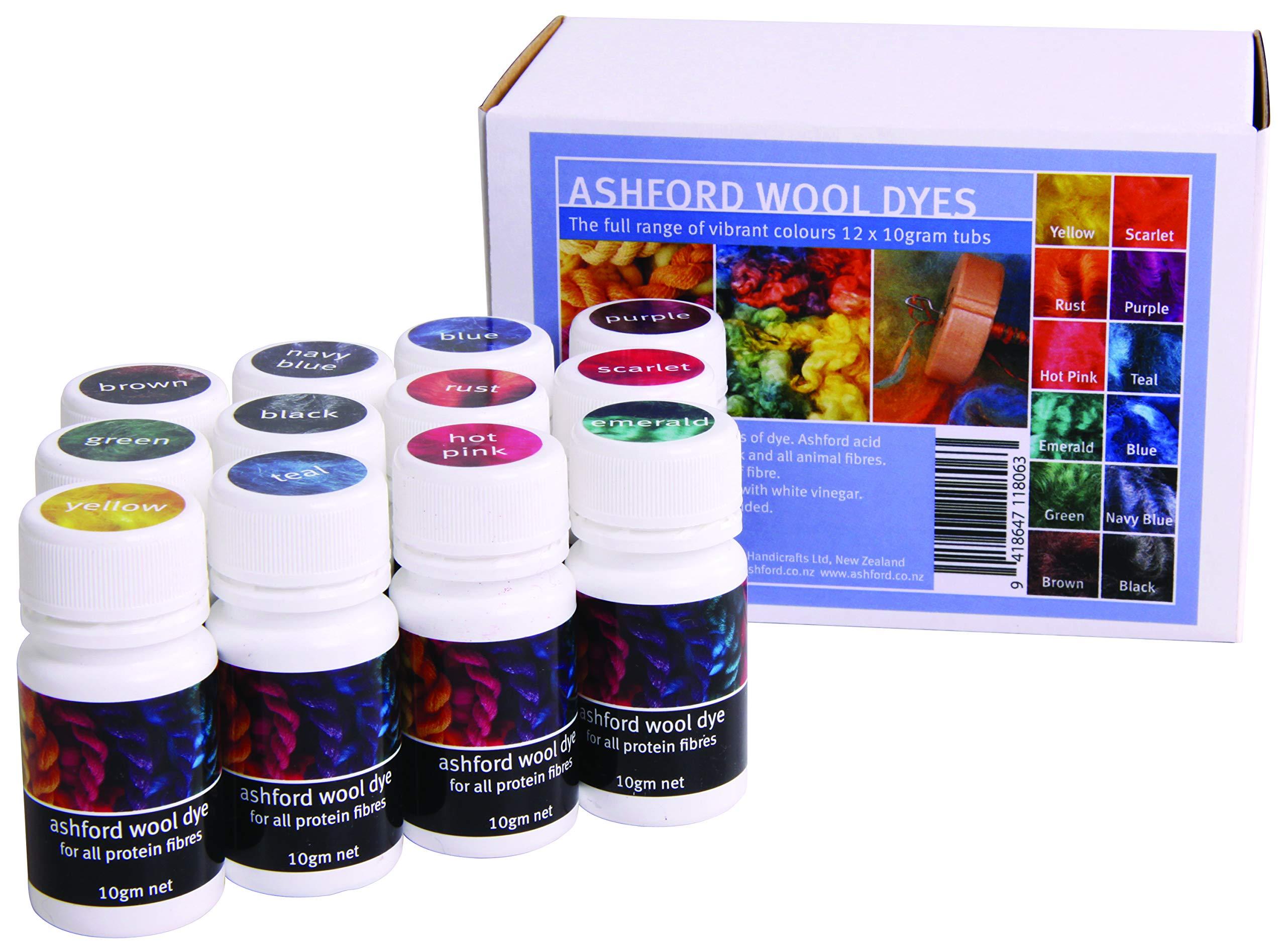 Ashford Wool Dye Collection Kit