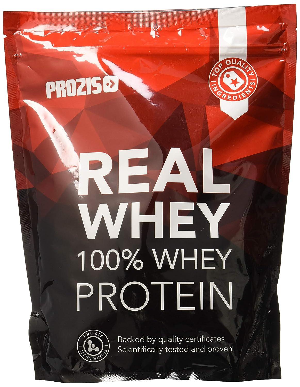 Prozis 100% Real Whey Protein 1000 g: Suplemento puro en polvo. Disfruta del batido con sabor a Frambuesa más delicioso del mercado.