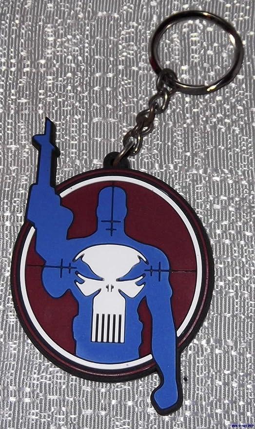 Amazon.com: Marvel Comics The Punisher Target Logo Llavero ...