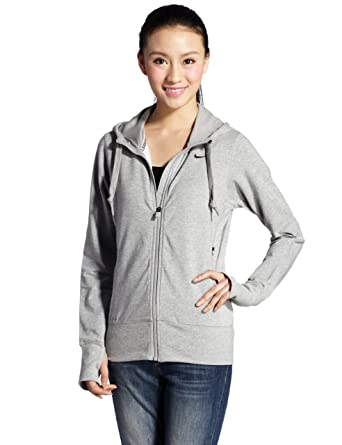 00fc04d92bafe Amazon.com: Nike Women's Therma All-TIME Hoody Full Zip S Grey: Clothing