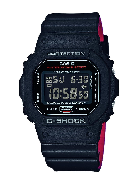 Casio Reloj Digital para Hombre de Cuarzo con Correa en Resina DW-5600HR-1ER