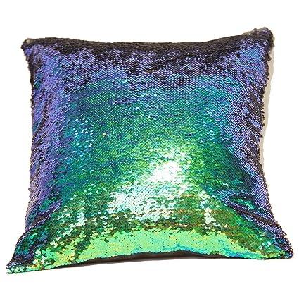 Amazon Premium Sequins Throw Pillow Cover Reversible Mermaid Interesting Diy Decorative Pillow Covers