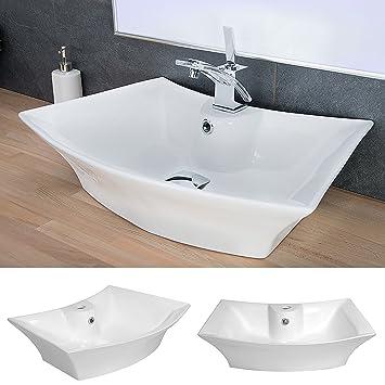 Waschbecken Design Keramik Wasch Schale Oval Aufsatz Waschtisch