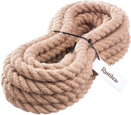Cuerda cableada para iluminación, de yute de 30 mm. Cada unidad es un metro de cuerda.: Amazon.es: Iluminación
