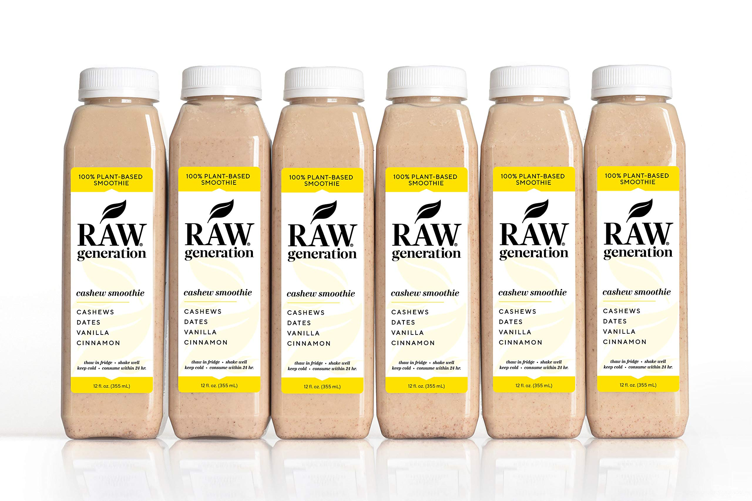 Raw Generation Cashew Smoothie - Healthiest Way to Lose Weight & Stay Strong/Plant-Based Protein Smoothie / 18 Count by RAW generation