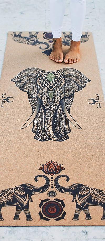 2nd Wind Elephant Cork Yoga Mat