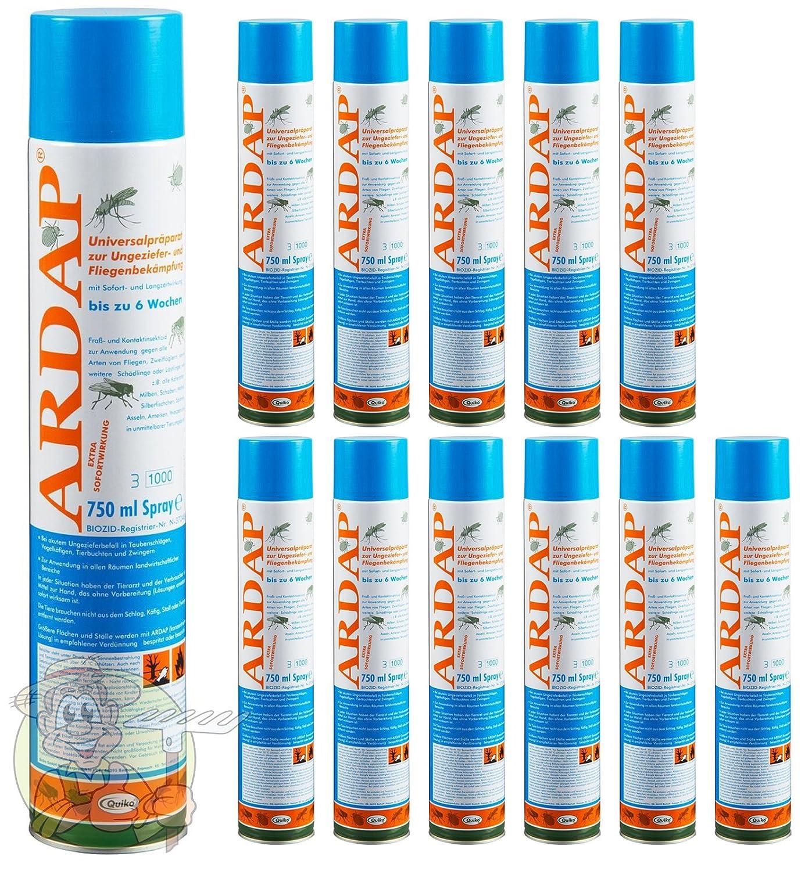 12 x 750 ml Quiko Ardap 077465 Ungeziefer Spray gegen alle Arten von Ungeziefer!