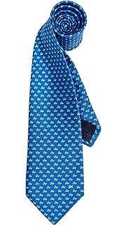 27d1396c29a6 Salvatore Ferragamo Men's Energia Tie, Blue, One Size at Amazon ...