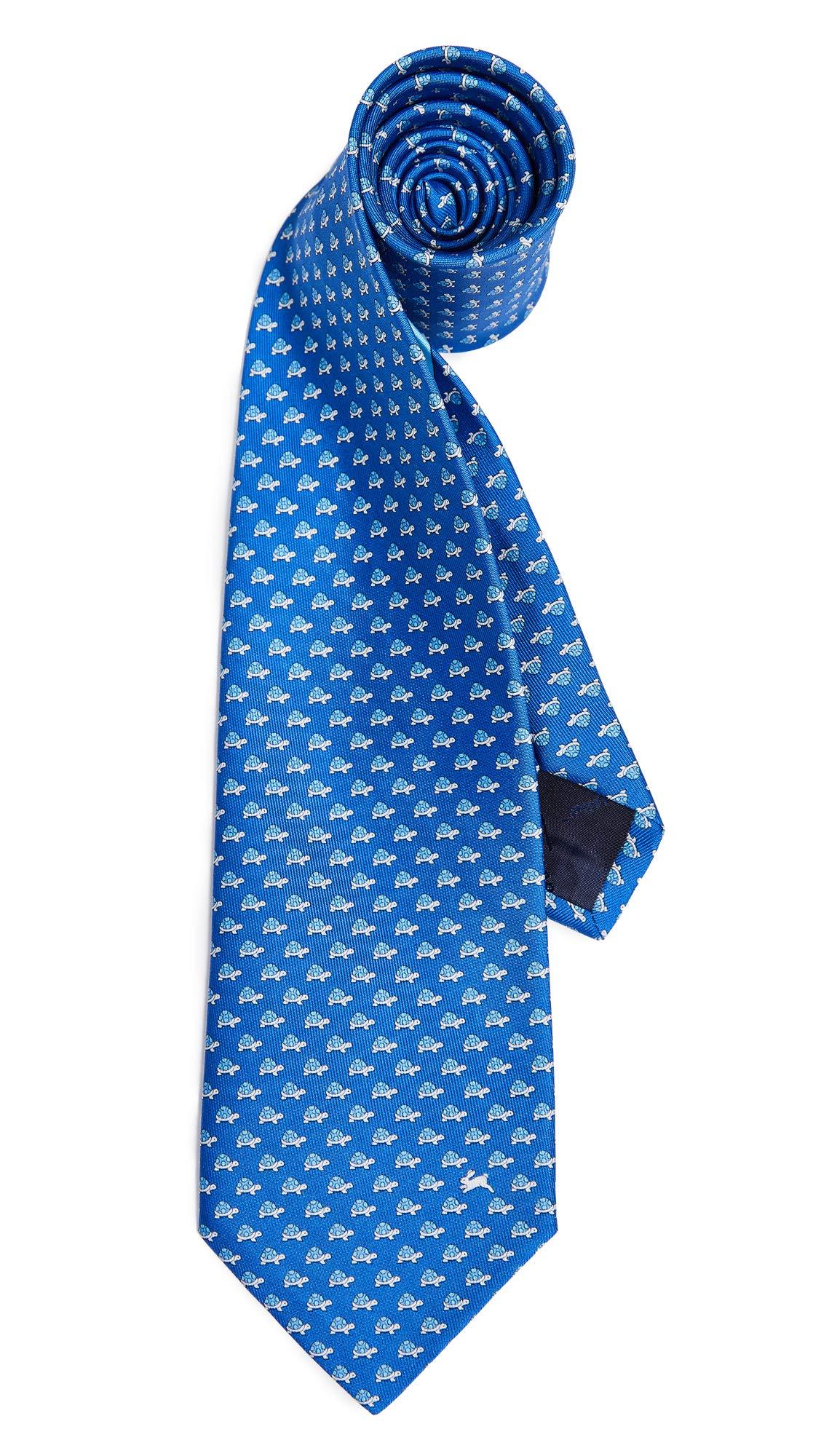 Salvatore Ferragamo Men's Turtle & Hare Tie, Blue, One Size