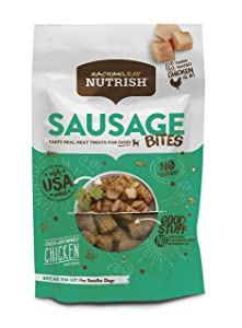Rachael Ray Nutrish Sausage Bites Dog Treats, Oven-Browned Chicken Recipe, 12 Oz.