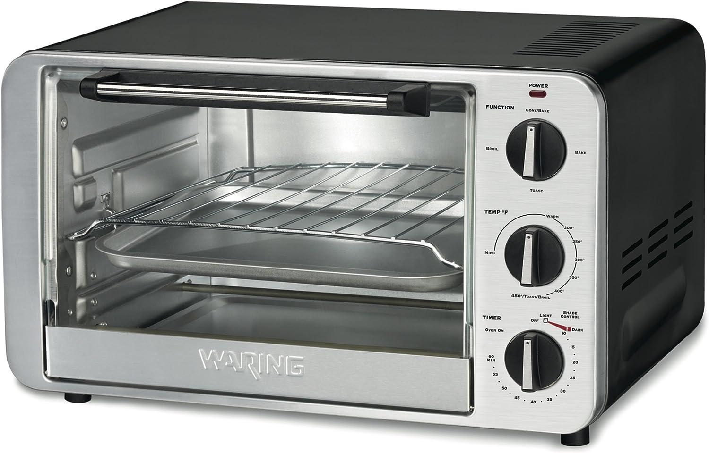Waring Tco600 1500 Watt 6 Slice Convection Toaster Oven Amazon Co Uk Kitchen Home