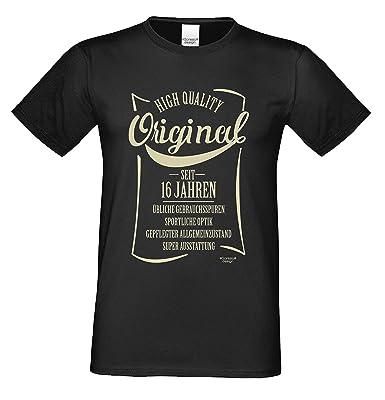 Herren T Shirt Original Seit 16 Jahren Fun Sprüche Motiv