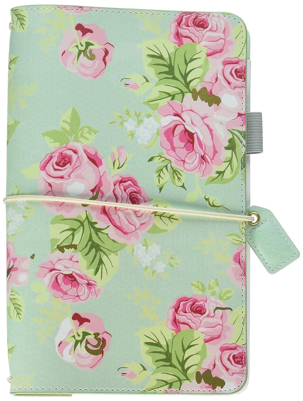Color Crush Traveler's Notebook Planner 5.75X8.75-Mint Floral Webster' s Pages TJ001-MF.BW