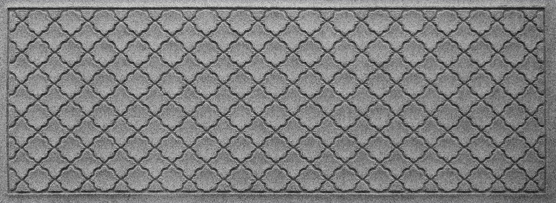 "Bungalow Flooring Waterhog Indoor/Outdoor Runner Rug, 22"" x 60"", Skid Resistant, Easy to Clean, Catches Water and Debris, Cordova Collection, Medium Grey"